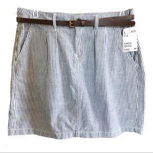 L.O.G.G. H&M Pin Striped Mini Skirt Sz 6